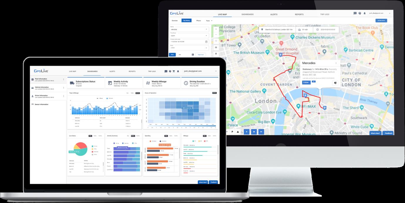 iMac Map and Macbook Dashboard